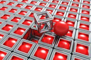 chrom metall käfig käfige kugel kugeln rot